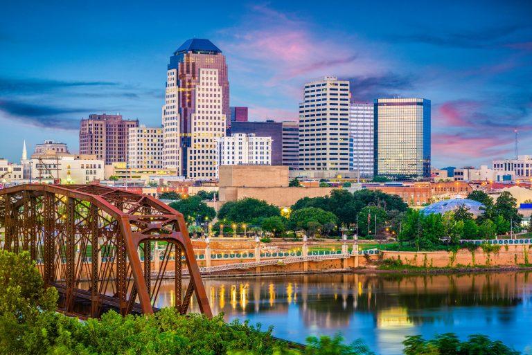 Shreveport, Louisiana, USA Skyline